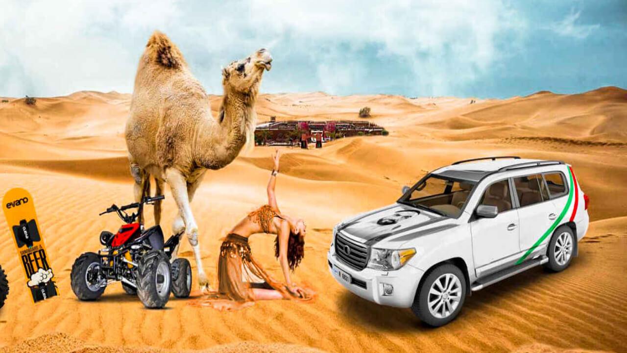 Evening Desert Safari: Camel Ride, Quad Bike, Dune Bashing