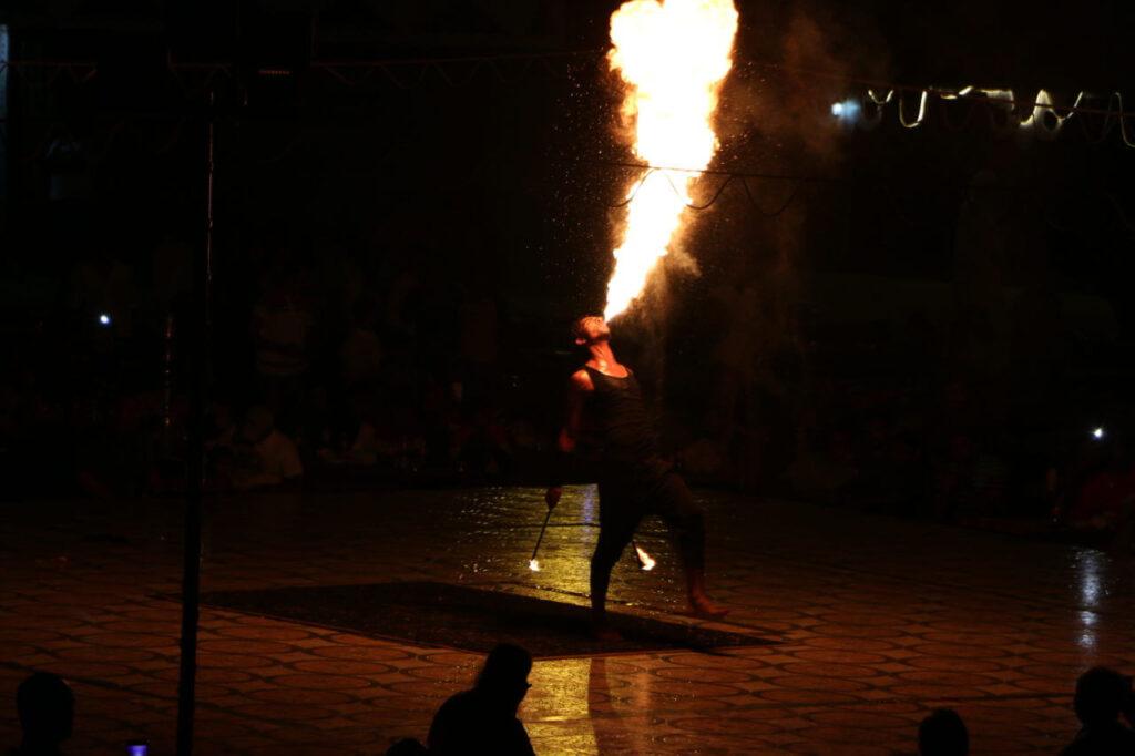 Firemen Show in Arabian Desert Camp